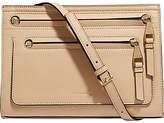 Karen Millen Leather Double Zip Bag, Nude