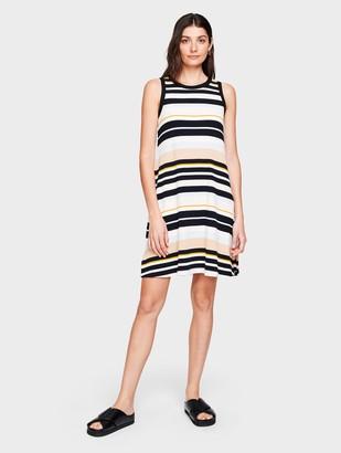 White + Warren Cotton Ribbed Sleeveless Dress
