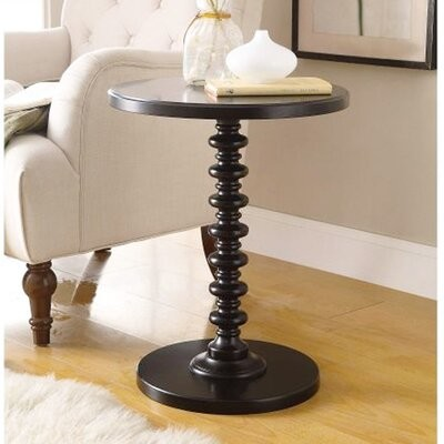 Thumbnail for your product : Alcott Hill Denham Pedestal End Table Color: Black