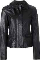 Belstaff jacket with quilted collar and biker detail - women - Leather/Viscose - 40