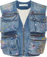 Off-White c/o Virgil Abloh Painted Distressed Denim Vest
