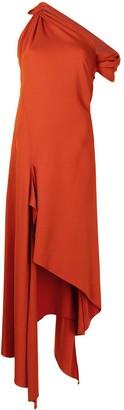Monse Knotted Shoulder Drape Dress