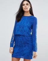 The Jetset Diaries Long Sleeved Lace Tunic Dress