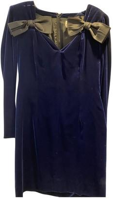 Saint Laurent Blue Velvet Dresses