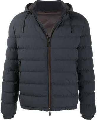 Ermenegildo Zegna Hooded Zip-Up Padded Jacket