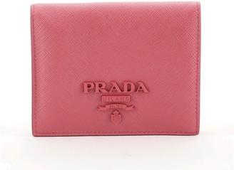 Prada Monochrome Compact Flap Wallet Saffiano Leather
