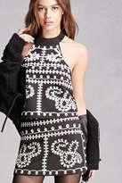 Forever 21 FOREVER 21+ Twelve Embroidered Mini Skirt