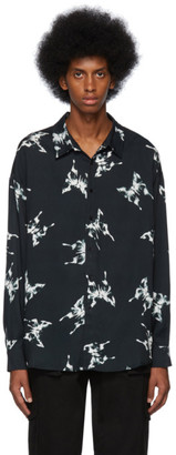 Nahmias Black Butterfly Shirt