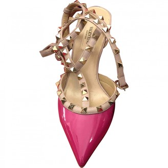 Valentino Rockstud Pink Leather Heels