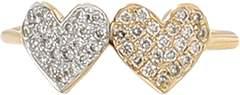 Sydney Evan Double Heart Diamond Ring