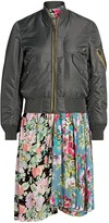 Junya Watanabe Reversible Mixed Media Floral Bomber Jacket
