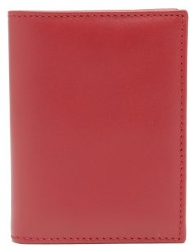 Comme des Garcons Bi-fold Leather Wallet - Red