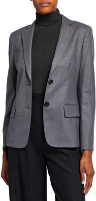 Agnona Wool Flannel 2-Button Jacket