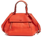 Tory Burch 'Mini Half-Moon' Leather Satchel - Red