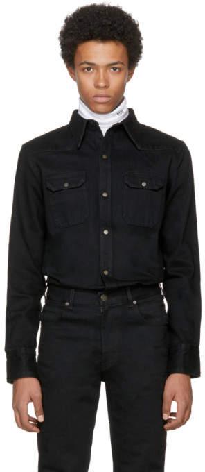 Calvin Klein Black Denim Shirt