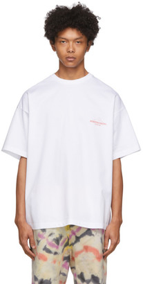 Wooyoungmi White Weekend Graphic T-Shirt