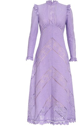 Zimmermann Brighton Panelled Lace Dress