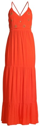 SUNDRESS Claire Ruffle Tiered Sun Embroidered Dress