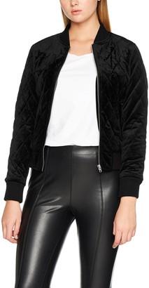 Urban Classics Women's Ladies Diamond Quilt Velvet Jacket