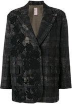 Antonio Marras appliqué checked jacket
