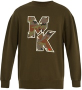MAISON KITSUNÉ Camouflage Fox-print logo cotton sweatshirt