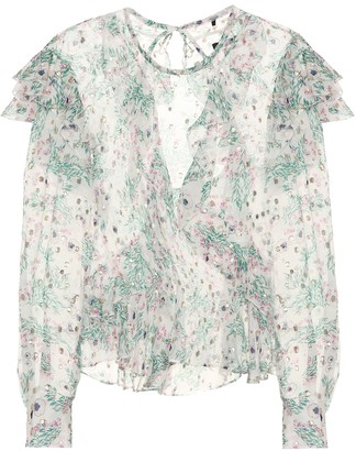 Isabel Marant Muster floral blouse