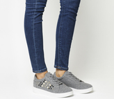 Office Cookie Embellished Lace Up Trainers