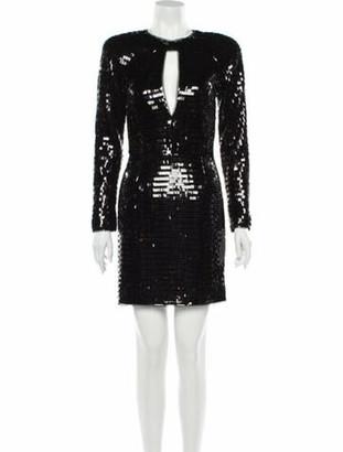 HANEY V-Neck Mini Dress w/ Tags Black