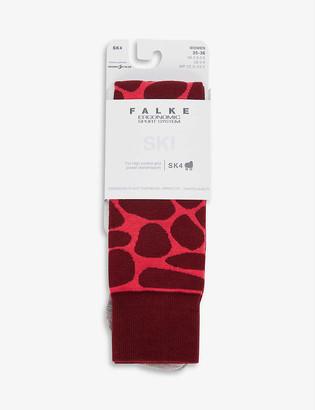 FALKE ERGONOMIC SPORT SYSTEM SK4 graphic-print wool-blend ski socks