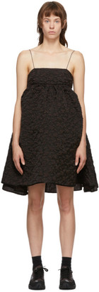Cecilie Bahnsen Brown Lisbeth Bandeau Dress