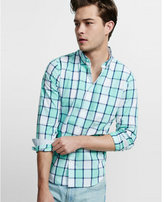 Express soft wash outlined check shirt