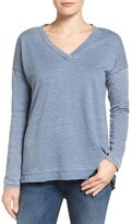 Caslon Burnout High/Low Tunic (Regular & Petite)