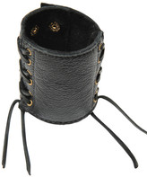 Heather Gardner - Leather Lace Up Cuff With Fringe
