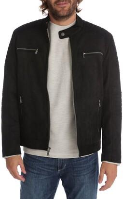 Px Wayne Faux Suede Moto Jacket