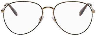 Givenchy Gold and Brown Studded Edge Glasses
