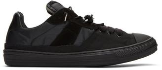 Maison Margiela Black Mix Fabric Sneakers