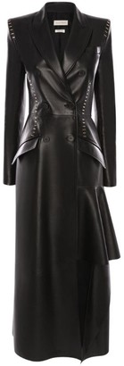 Alexander McQueen Long Stapled Leather Coat