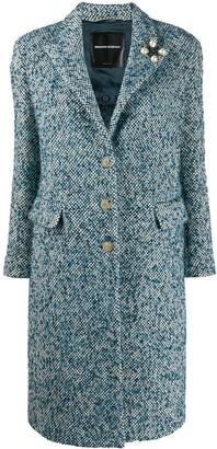 Ermanno Scervino Woven Single-Breasted Coat