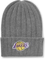 The Elder Statesman NBA Los Angeles Lakers Appliquéd Cashmere Beanie