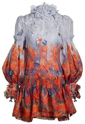 Zimmermann Wild Botanica Mini Dress