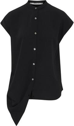 Chalayan Asymmetric Draped Satin-crepe Shirt