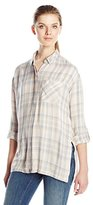 Calvin Klein Jeans Women's Long Sleeve Plaid Shirt