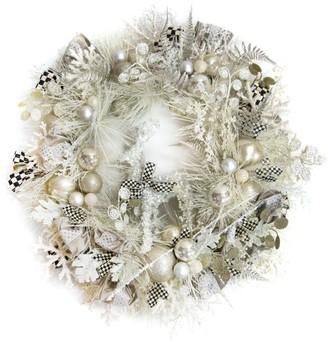 Mackenzie Childs Snowfall Festive Wreath