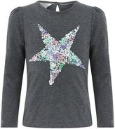 Monsoon Sequin Star Long Sleeve Top