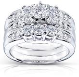 Kobelli Jewelry 1 3/5 CT TW Diamond 14K White Gold Bridal Set