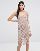Missguided Strappy Lattice Midi Dress