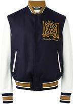 Alexander McQueen insignia bomber jacket - men - Cotton/Polyamide/Spandex/Elastane/Viscose - 48