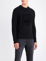 Kenzo Tiger-flocked ribbed wool jumper