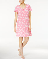 Charter Club Floral-Print Cotton Sleepshirt, Only at Macy's
