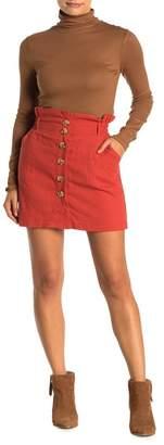 FAVLUX Button Front Mini Skirt